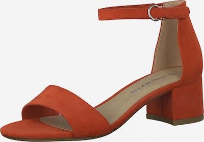 TAMARIS Sandales à lanières en rouge rouille, Vue avec produit