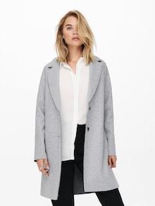 ONLY prechodný kabát 'Carrie' v sivej farbe