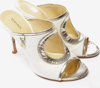 VERSACE Sandaletten in 36,5 in gold / weiß, Produktansicht