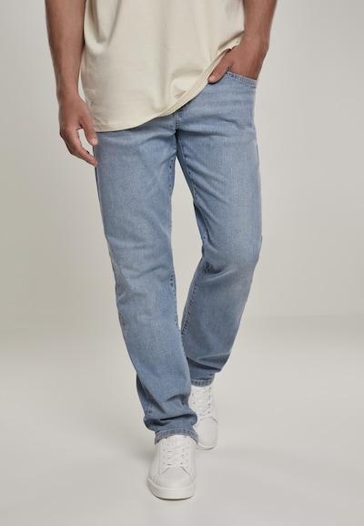 Urban Classics Jeans in de kleur Blauw denim: Vooraanzicht