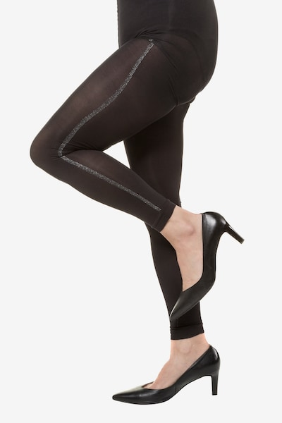 Ulla Popken Leggings en noir, Vue avec modèle
