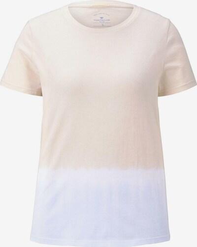 TOM TAILOR T-Shirt in beige / blau, Produktansicht