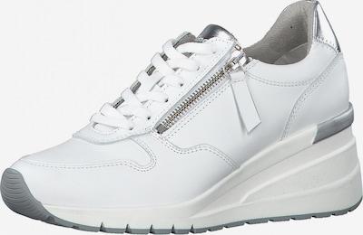 TAMARIS Baskets basses en argent / blanc, Vue avec produit