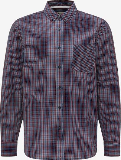 MUSTANG Hemd in rauchblau / grau / dunkelrot, Produktansicht