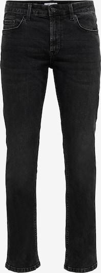 Only & Sons Jeans 'Weft' in black denim: Frontalansicht