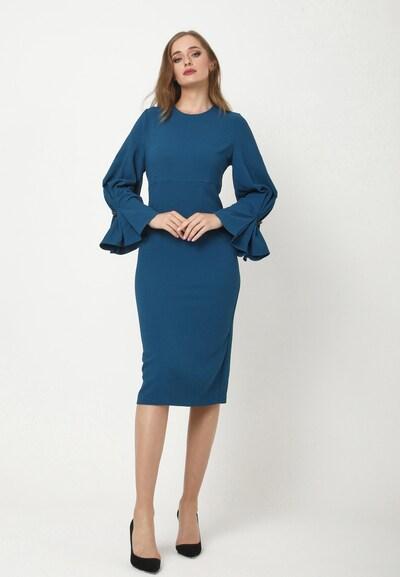 Madam-T Kleid 'KAZIMIRA' in blau / türkis, Modelansicht