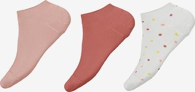 NAME IT Chaussettes 'Vira' en rosé / rose ancienne / blanc, Vue avec produit