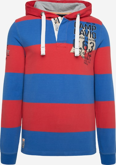 CAMP DAVID Hoodie in blau / rot, Produktansicht