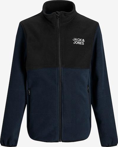 Jachetă  fleece 'Hype' Jack & Jones Junior pe bleumarin / negru / alb, Vizualizare produs
