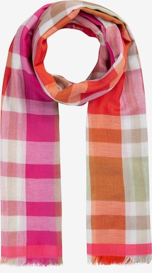 Fular CODELLO pe verde / portocaliu / roz, Vizualizare produs