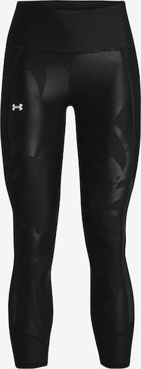 UNDER ARMOUR Sportbroek in de kleur Zwart / Wit: Vooraanzicht