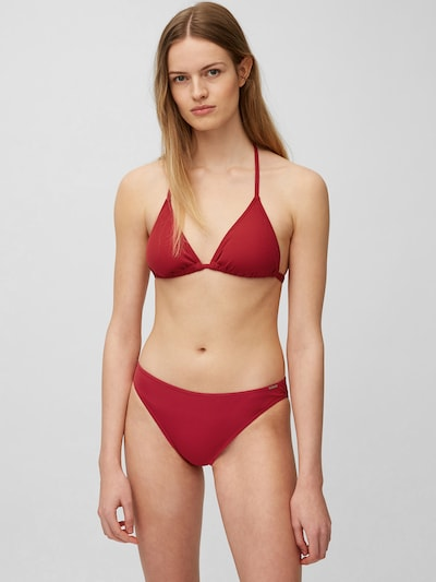 Marc O'Polo Triangle Bikini ' Solids ' in dunkelrot, Modelansicht