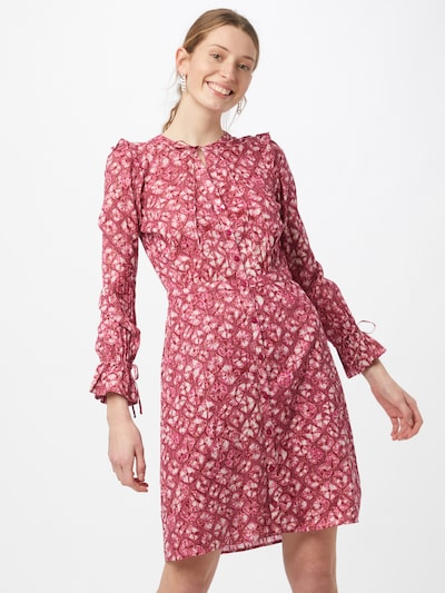 Fabienne Chapot Blusenkleid 'Becca' in pitaya / weiß, Modelansicht