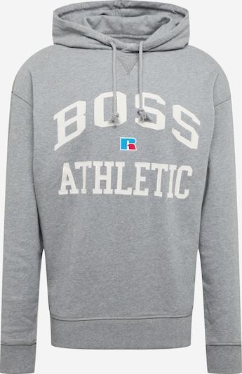 Felpa 'Safa Russell Athletic' BOSS Casual di colore grigio / bianco, Visualizzazione prodotti