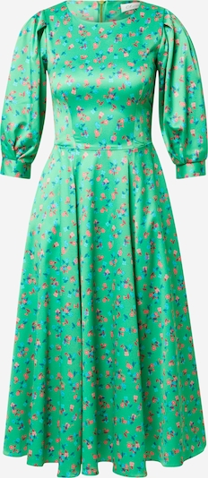 Closet London Kleid in blau / grün / rosa, Produktansicht