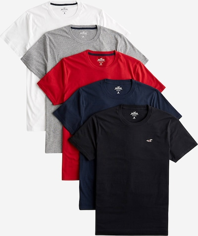 HOLLISTER Majica u siva / miks boja / crna / bijela, Pregled proizvoda