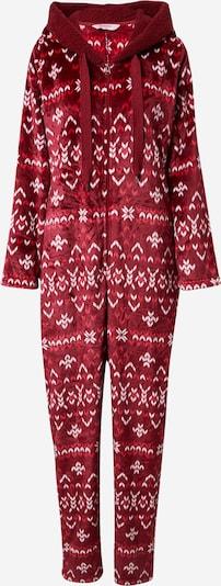 Hunkemöller Pyjamas 'Fairisle' i mörkröd / vit, Produktvy