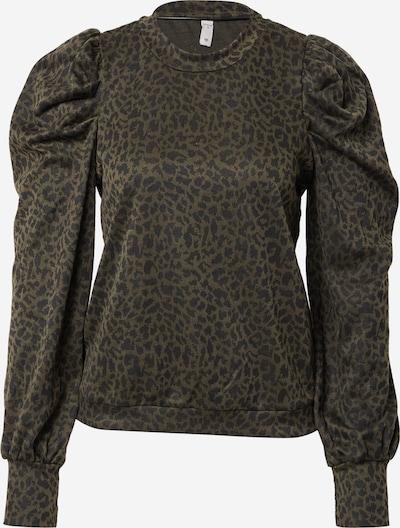 PULZ Jeans Tričko 'DUNNE' - tmavozelená / čierna, Produkt