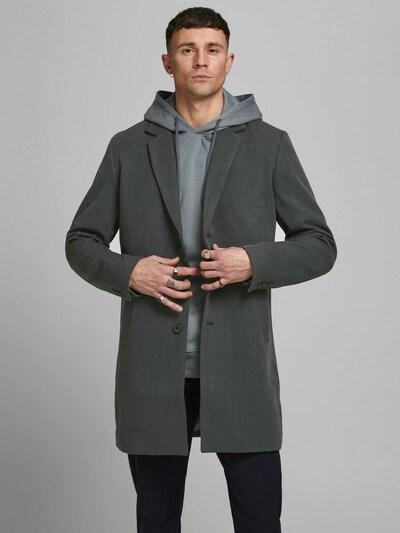 Demisezoninis paltas iš JACK & JONES, spalva – tamsiai pilka, Modelio vaizdas