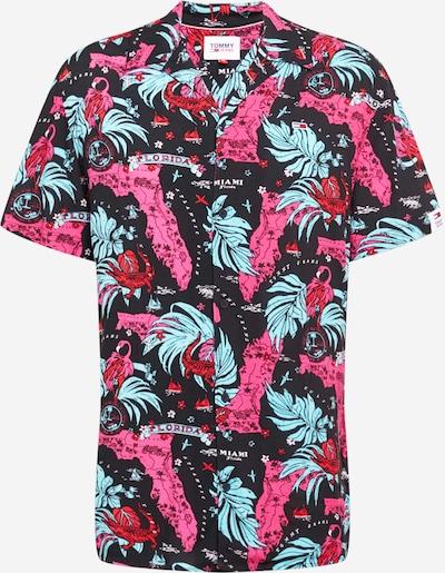 Tommy Jeans Paita 'MIAMI' värissä turkoosi / vaaleanpunainen / punainen / musta, Tuotenäkymä