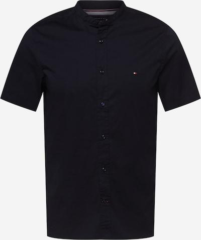 TOMMY HILFIGER Hemd 'Mandarin' in nachtblau / rot / weiß, Produktansicht