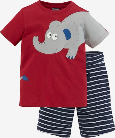 Kidsworld Set in blau / grau / rot / weiß, Produktansicht