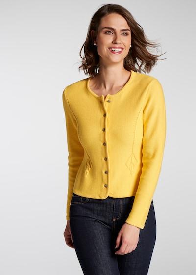 SPIETH & WENSKY Strickjacke 'Perla' in gelb, Modelansicht