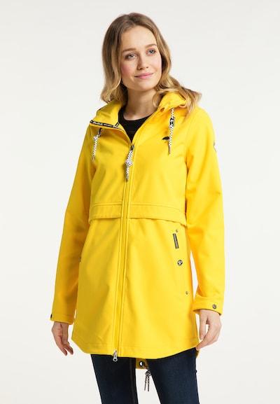Schmuddelwedda Kurzmantel in gelb, Modelansicht