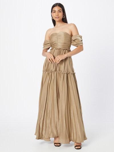 True Decadence Abendkleid in hellbeige, Modelansicht