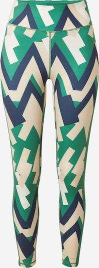 DELICATELOVE Sporthose 'NADI' in hellbeige / navy / grün / weiß, Produktansicht