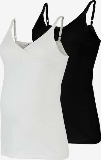 MAMALICIOUS Haut 'Kea' en noir / blanc, Vue avec produit