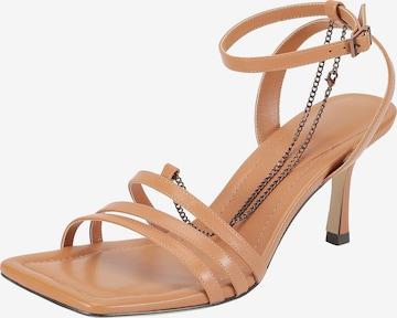 Ekonika Strap Sandals in Beige
