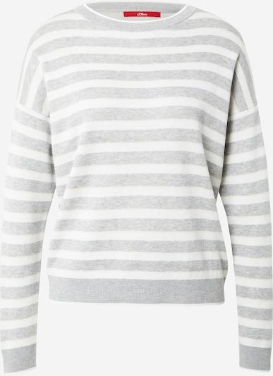 s.Oliver Pullover in beige / grau / weiß, Produktansicht