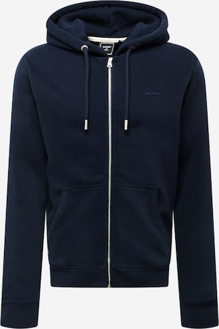 Superdry Sweat jacket in Blue
