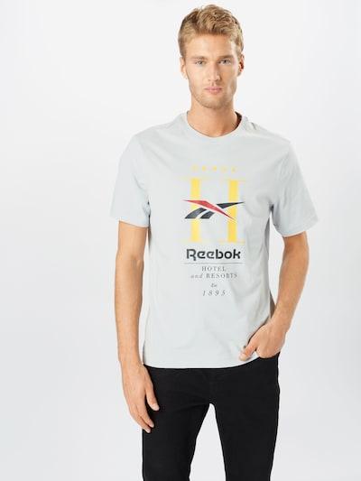Reebok Classic Shirt in nachtblau / gelb / hellgrau / pastellrot / schwarz: Frontalansicht