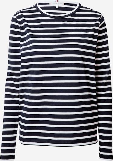TOMMY HILFIGER Shirt in dunkelblau / weiß: Frontalansicht