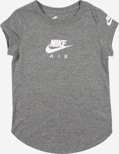 Nike Sportswear T-Shirt in graumeliert / weiß, Produktansicht
