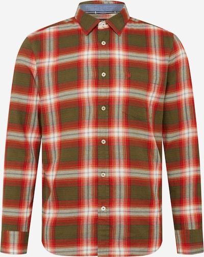 Marc O'Polo Hemd in oliv / rotmeliert / weiß, Produktansicht