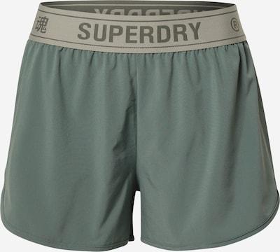 Superdry Spodnie sportowe w kolorze jasnoszary / ciemnoszary / zielonym, Podgląd produktu