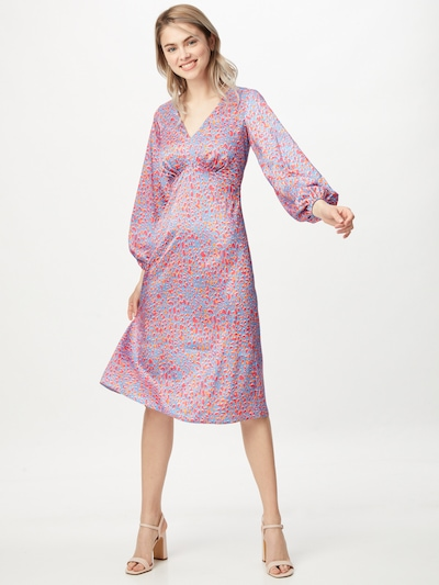 Rochie Closet London pe albastru / galben închis / roz deschis, Vizualizare model