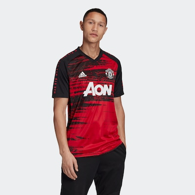 ADIDAS PERFORMANCE Functioneel shirt 'Manchester United' in de kleur Donkerrood / Zwart / Wit: Vooraanzicht