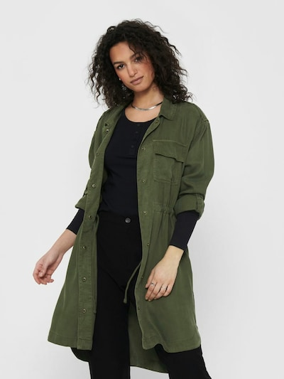 ONLY Between-seasons coat in Grass green, View model