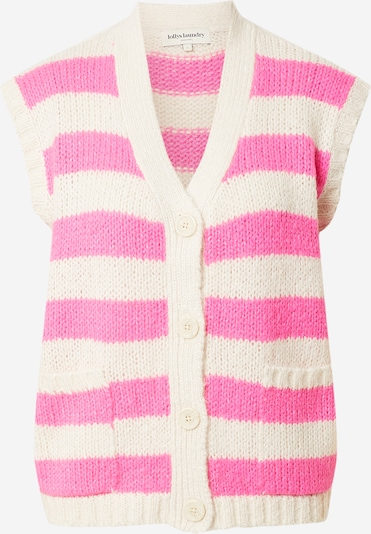 Lollys Laundry Vest 'Celine' in Neon pink / White, Item view