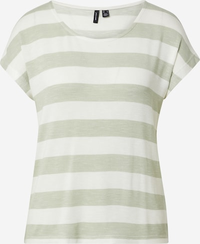 VERO MODA T-Shirt in grünmeliert / offwhite, Produktansicht