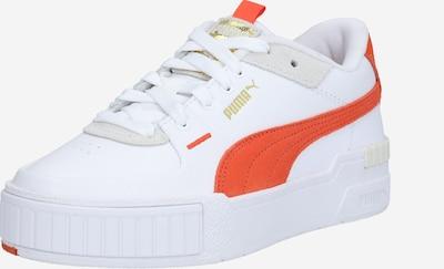 PUMA Baskets basses 'Cali' en gris clair / rouge orangé / blanc, Vue avec produit