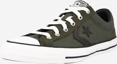 sötétzöld / fekete CONVERSE Rövid szárú edzőcipők, Termék nézet