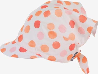 STERNTALER Kopftuch in apricot / koralle / rosa / weiß, Produktansicht