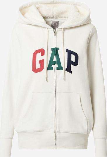 GAP Sweatjacke in grau / rot / schwarz / weiß, Produktansicht