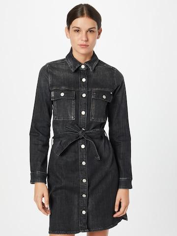 Le Temps Des Cerises Shirt Dress 'Nessi' in Black