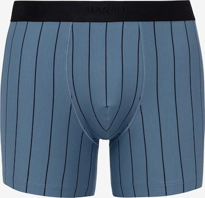Hanro Pants mit langem Bein ' Shadow ' in taubenblau / schwarz, Produktansicht